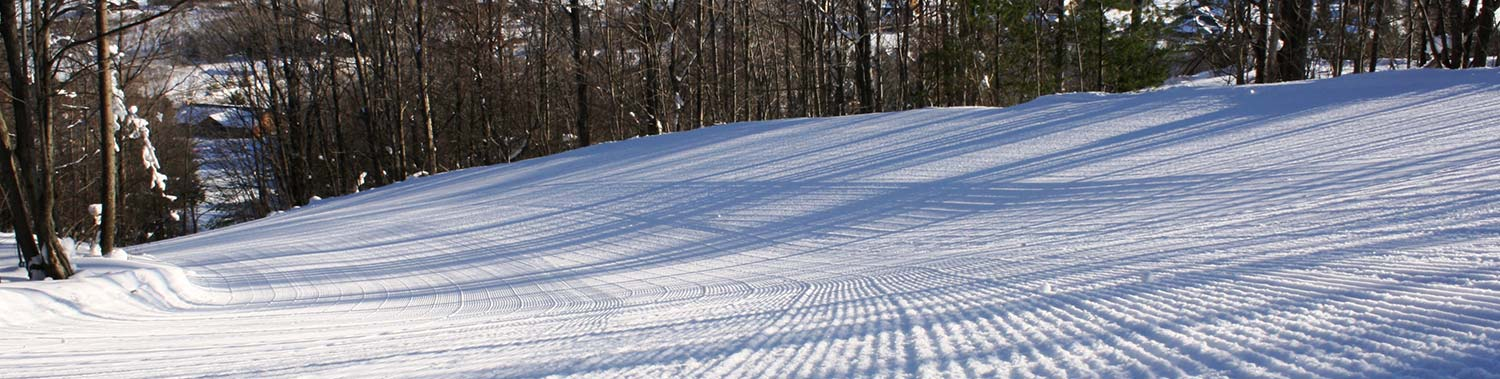 first tracks on the hill