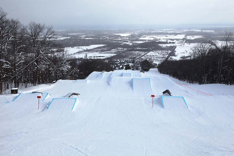 terrain park with a view