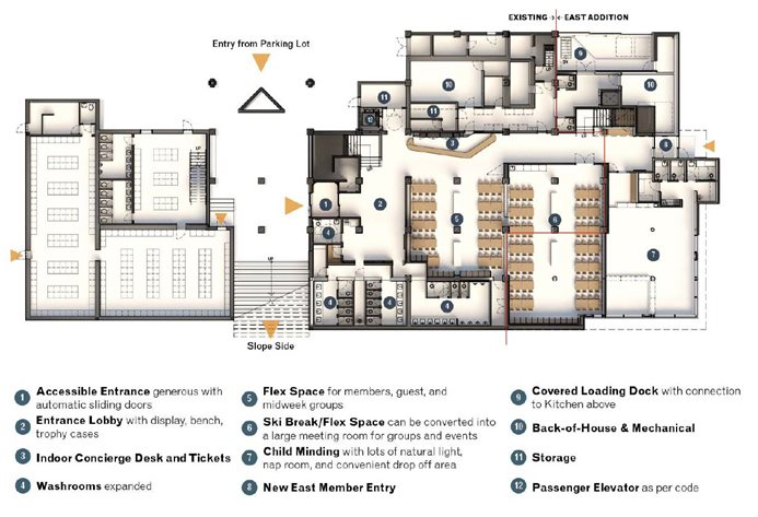 clubhouse plan lower level